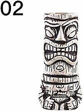 Schildeng Kreativer hawaiianischer Tiki-Becher mit