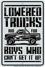 Schilder 4Fun abgesenkt Trucks, kleiner Parken