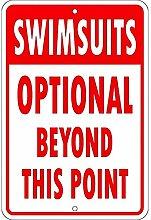 Schilder 4Fun Badeanzüge optional Kleiner