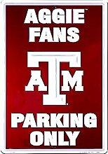 Schilder 4Fun TX A & M Aggies Fans, große