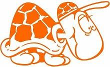 Schildkröte Aufkleber 001, 30 cm, orange