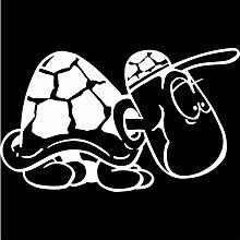 Schildkröte Aufkleber 001, 50 cm, weiss