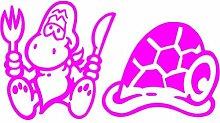 Schildkröte Aufkleber 002, 50 cm, pink
