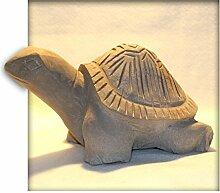 Schildkröte aus Sandstein gelb Gartendeko