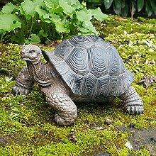 Schildkröte Deko Figur Gartenfigur Turtle Gartenteich Garten Dekoration