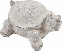 Schildkröte Deko Objekt Steinguss grau Gartendeko