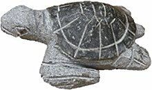 Schildkröte mit poliertem Panzer, Tierfigur aus Granit, Frostfes