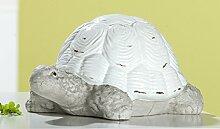 Schildkröte Vintage Keramik antik weiß glänzend