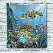 Schildkröte Wandteppich Meer Ozean Art Wandbehang