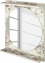 SCHILDMEYER Spiegel Eros, rund, 2 Ablagen eiche-antik