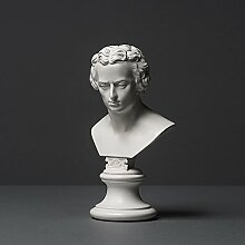 Schiller Skulptur aus hochwertigem Zellan, echte