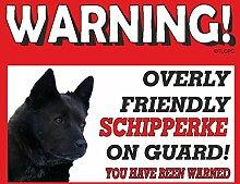 Schipperke Guard Dog Metall Schild 212