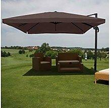 Schirm Sonnenschirm braun Alu 4,3m Gastro