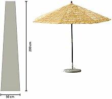 Schirmhülle 200cm lang Sonnenschirm bis Ø 350 cm Schutzhülle Schutzhaube Abdeckplane Weiß