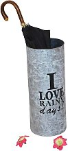 Schirmständer in Grau Metall