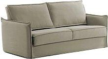 Schlafcouch in Beige Skandi Design