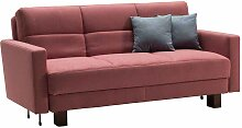 Schlafcouch in Rosa Webstoff