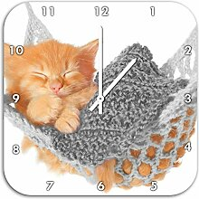 Schlafendes Katzenbaby in Hängematte
