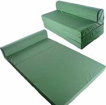 Schlafsessel 200x120 Klappmatratze Gästebett Bettsessel Schlafsofa Faltmatratze (grün)