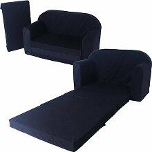 Schlafsofa 100x172cm Sofa Kinder Klappmatratze Gästebett Bettsessel Faltmatratze (schwarz)