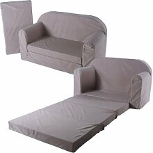 Schlafsofa 100x172cm Sofa Kinder Klappmatratze Gästebett Bettsessel Faltmatratze (beige)