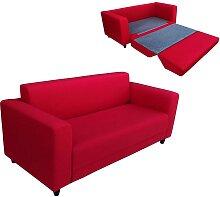 Schlafsofa 2-Sitzer TENBY - Stoff - Rot