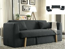 Schlafsofa 3-Sitzer modulierbar SINIBA - Stoff -