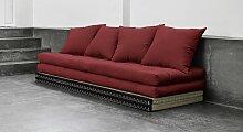Schlafsofa Borbona, 140x200 cm, rot