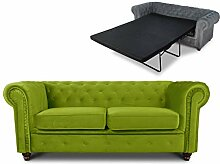Schlafsofa Chesterfield Asti Bis 2-Sitzer, Sofa