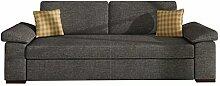 Schlafsofa Dora, Sofa mit Bettkasten und Schlaffunktion, freistehendes Bettsofa, Dauerschläfer-sofa, Schlafcouch, Couch vom Hersteller, Couchgarnitur (Lux 06 + Great 1444)