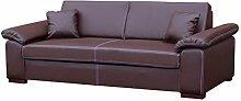 Schlafsofa Dora, Sofa mit Bettkasten und Schlaffunktion, freistehendes Bettsofa, Dauerschläfer-sofa, Schlafcouch, Couch vom Hersteller, Couchgarnitur (Soft 066)