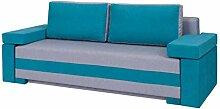 Schlafsofa Frankoni, Couch Sofa mit Bettkasten und