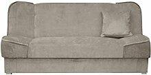 Schlafsofa Gemini mit Bettkasten, 3 Sitzer Sofa, Couch mit Schlaffunktion, Bettsofa Schlafsofa Polstersofa Farbauswahl Couchgarnitur (Orinoco 22)