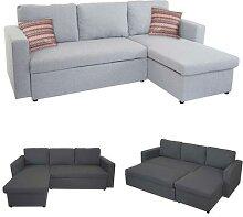 Schlafsofa HWC-D92, Couch Ecksofa Sofa,