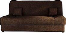 Schlafsofa Jonas, Sofa mit Bettkasten und Schlaffunktion, Bettsofa, Dauerschläfer-sofa, Schlafcouch, Materialmix, Couch vom Hersteller, Wohnlandschaft (Lux 12)