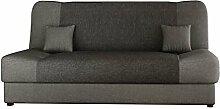 Schlafsofa Jonas, Sofa mit Bettkasten und Schlaffunktion, Bettsofa, Dauerschläfer-sofa, Schlafcouch, Materialmix, Couch vom Hersteller, Wohnlandschaft (Lux 05 + Lux 06)