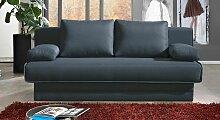 Schlafsofa Meriden, 160x200 cm, schwarz