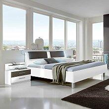 Schlafzimmer Bett in LED Beleuchtung Polster