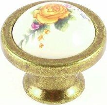 Schlafzimmer Blumen Muster gelb Ball Form Keramik Möbel Tür Schublade Knopf