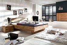 Schlafzimmer Cintio Massivholzbett + Nachttisch