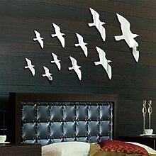 Schlafzimmer Dekoration Vögel Acryl Spiegel Wandaufkleber Hauptdekoration
