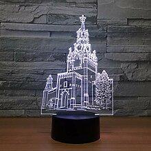 Schlafzimmer Die Uhr Turm Gebäude 3D Illusion