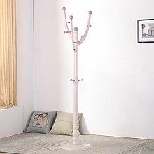 Schlafzimmer Europäische Massivholz Schrank Racks Boden Kleiderbügel Mode Einfache Kleiderständer Foyer Rack ( Farbe : # 6 )