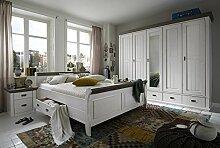 Schlafzimmer FRIDA weiß/weiß - Kleiderschrank,