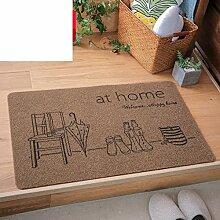 Schlafzimmer Fußmatten für den Hausgebrauch/ Raum Fußmatten/Anti-Rutsch Badvorleger/Flur Küche saugfähigen Badematte-C 40x60cm(16x24inch)