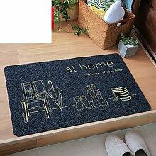 Schlafzimmer Fußmatten für den Hausgebrauch/ Raum Fußmatten/Anti-Rutsch Badvorleger/Flur Küche saugfähigen Badematte-A 50x80cm(20x31inch)