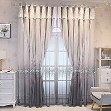 Schlafzimmer Gardinen mit Ösen 2 Schichten