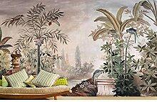 Schlafzimmer Hintergrundbild tropische handbemalte
