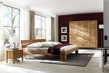 Schlafzimmer Kernbuche massiv Set Zen mit Bett in
