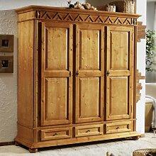 Schlafzimmer Kleiderschrank aus Fichte Massivholz